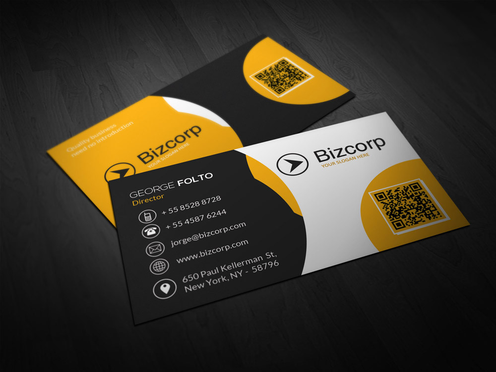 Double Sided Professional Business Card Design Double Infinity