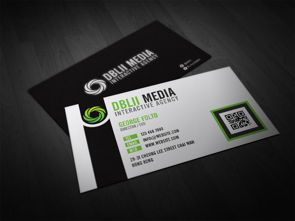 double sided professional business card design double infinity - Business Card