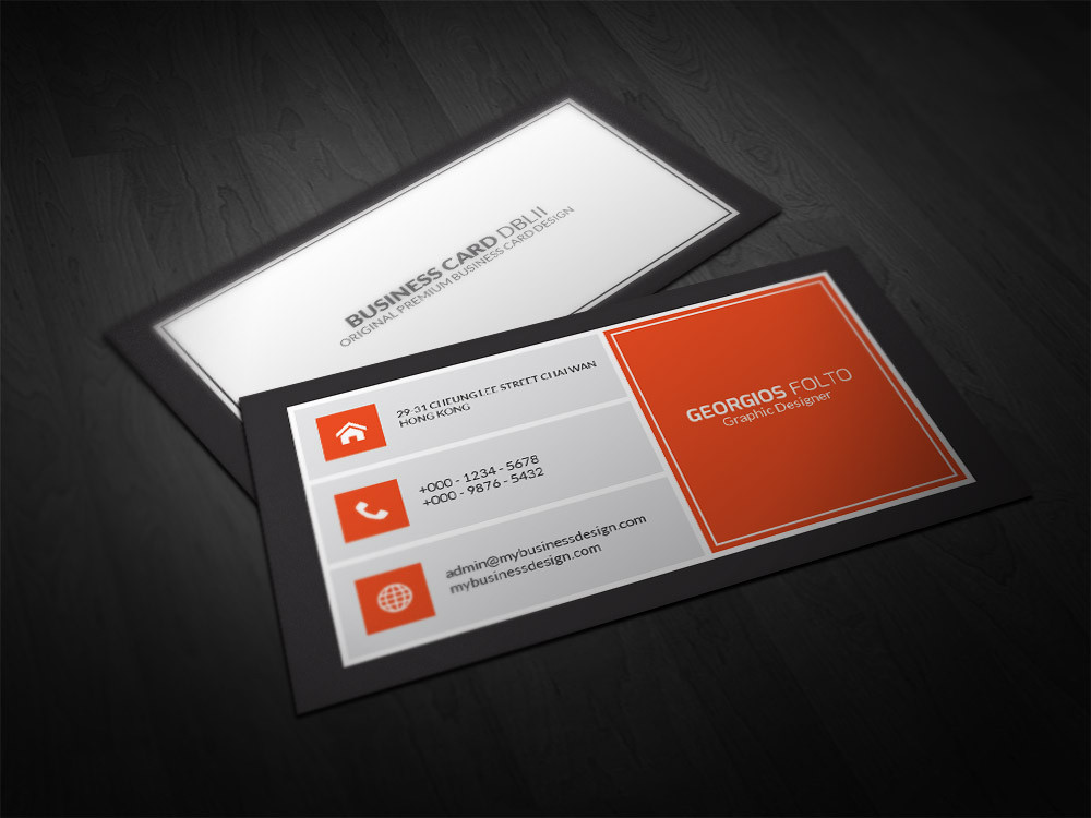 Double Infinity – Double Sided Professional Business Card