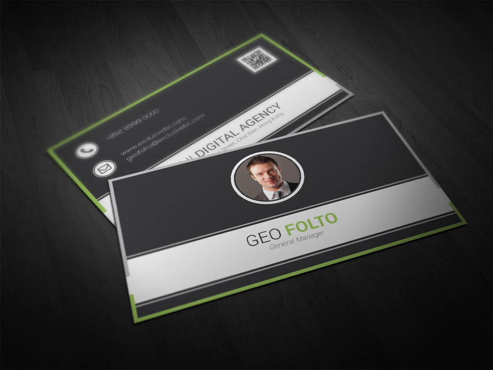 Premium business card design service double infinity previous next colourmoves