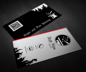 Magic and Fire Spinning – Magician Business Card