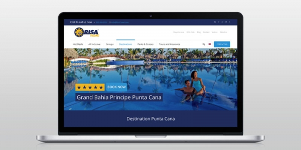 Miami Risa Travel Agency Website