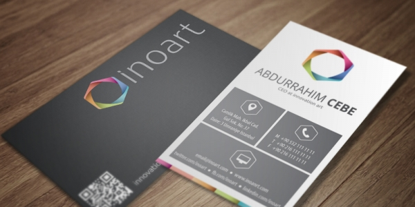 Inoart Software Company Business Card