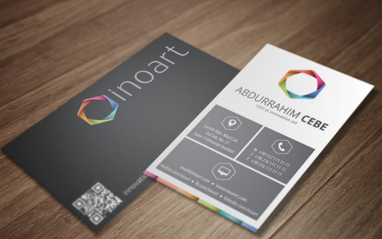 Inoart Software Company Business Card – Double Infinity