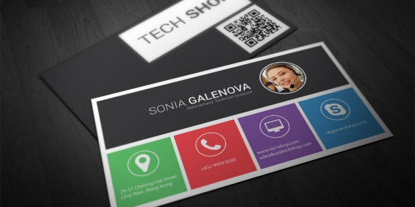 Tech Shop – Technical Asistant Business Card