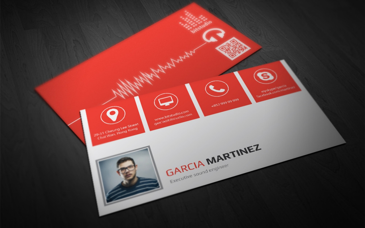 Double infinity radio producer business card business cards and corporate identity magicingreecefo Image collections